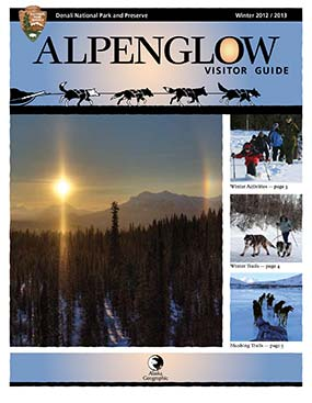 cover of the winter Alpenglow, featuring a sundog