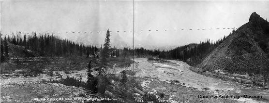 Historic photo of the Riley Creek area