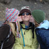 Image of three female hikers