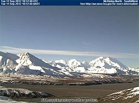 Image of Mount McKinley, other mountains
