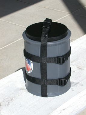 a gray and black plastic cylinder