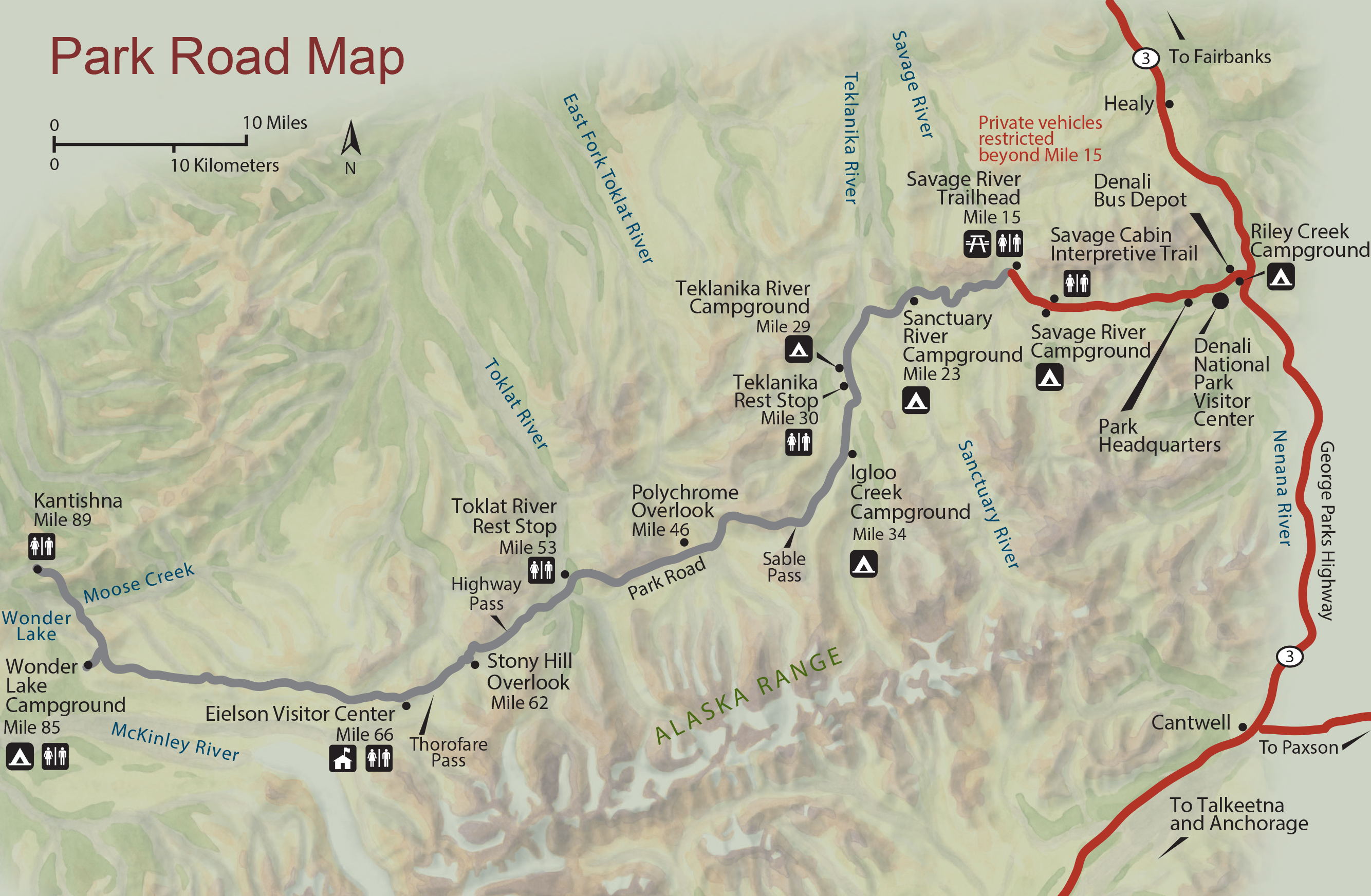 Alaska Highway Map With Cities on