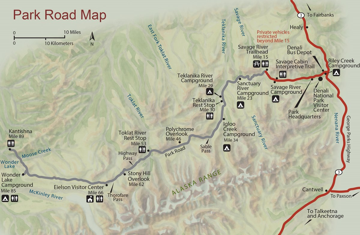 Maps - Denali National Park & Preserve (U.S. National Park ...