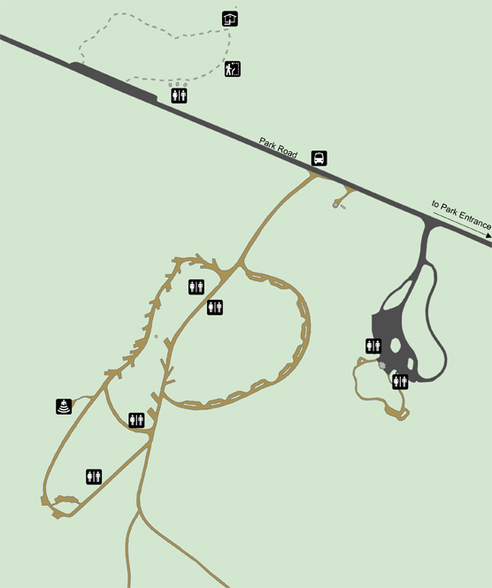 A map of Savage River Campground