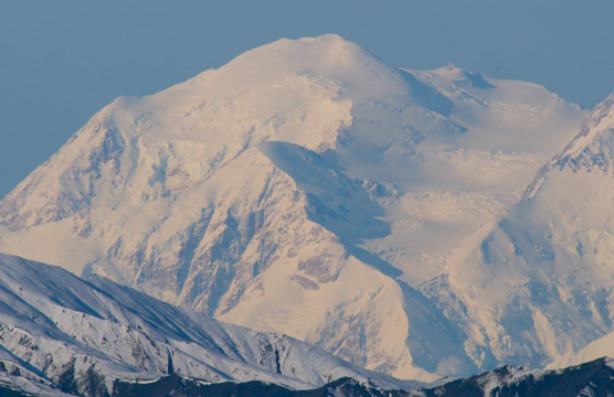 The south peak of Mt. McKinley