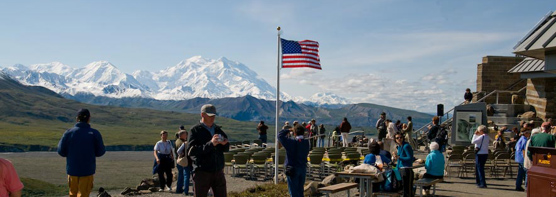 Mt. McKinley looms large at Eielson, when skies are clear