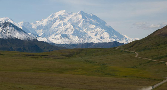 Mt. McKinley seen from Stony Dome