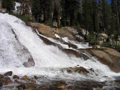 Minaret Falls in early summer