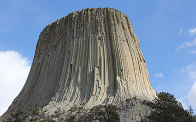 Devils Tower as seen from the visitor center