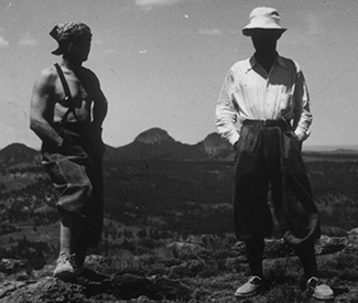 Wiessner and Coveney on the summit of the Tower in 1937