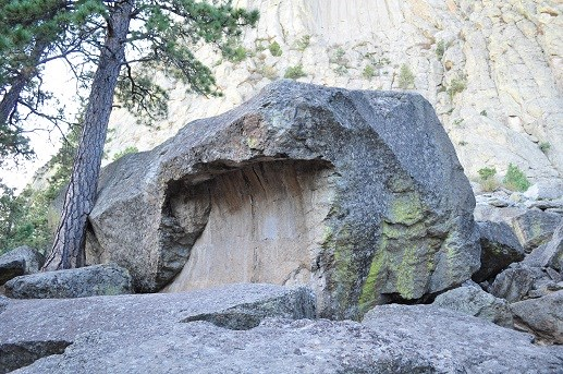 A fallen column from Devils Tower