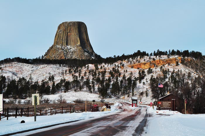 Devils Tower Looms over the Park Entrance