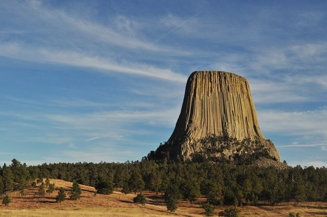 the Devil's Tower National Monument was used to film a well-known science fiction movie called Close Encounters of the Third Kind.