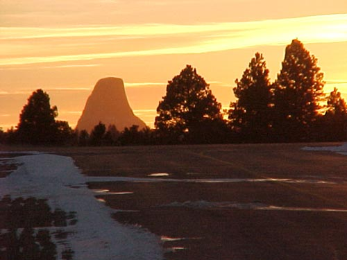 Devils Tower from the Hulett airport