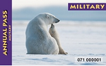 Polar bear pictured on the annual military pass