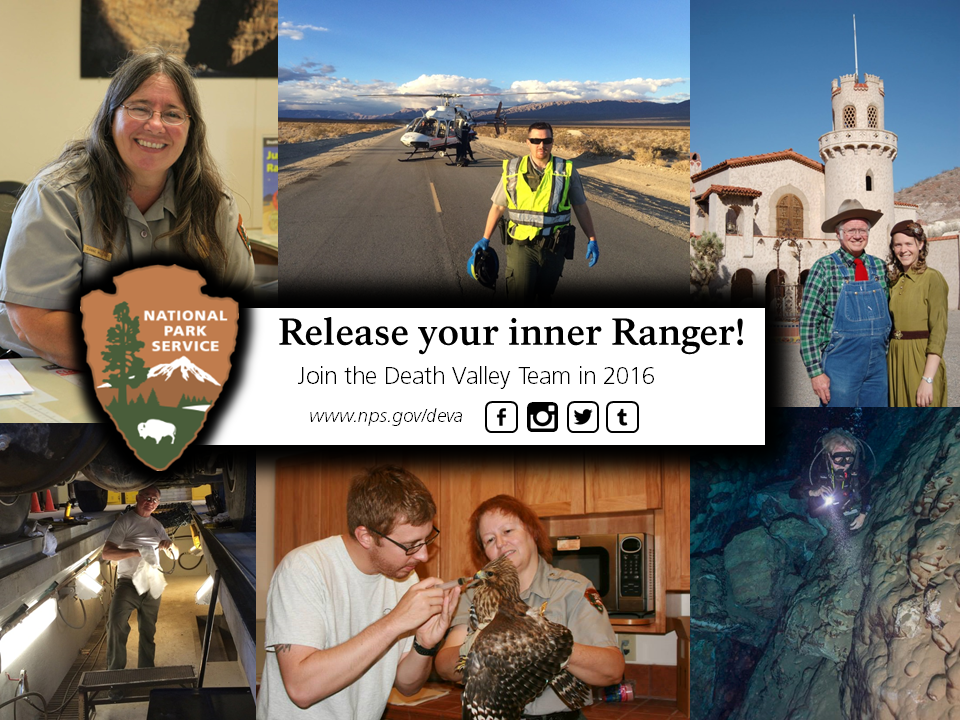 Collage of National Park Rangers working in various roles.
