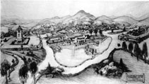 Cocept drawing for Albert Johnson's Death Valley Ranch