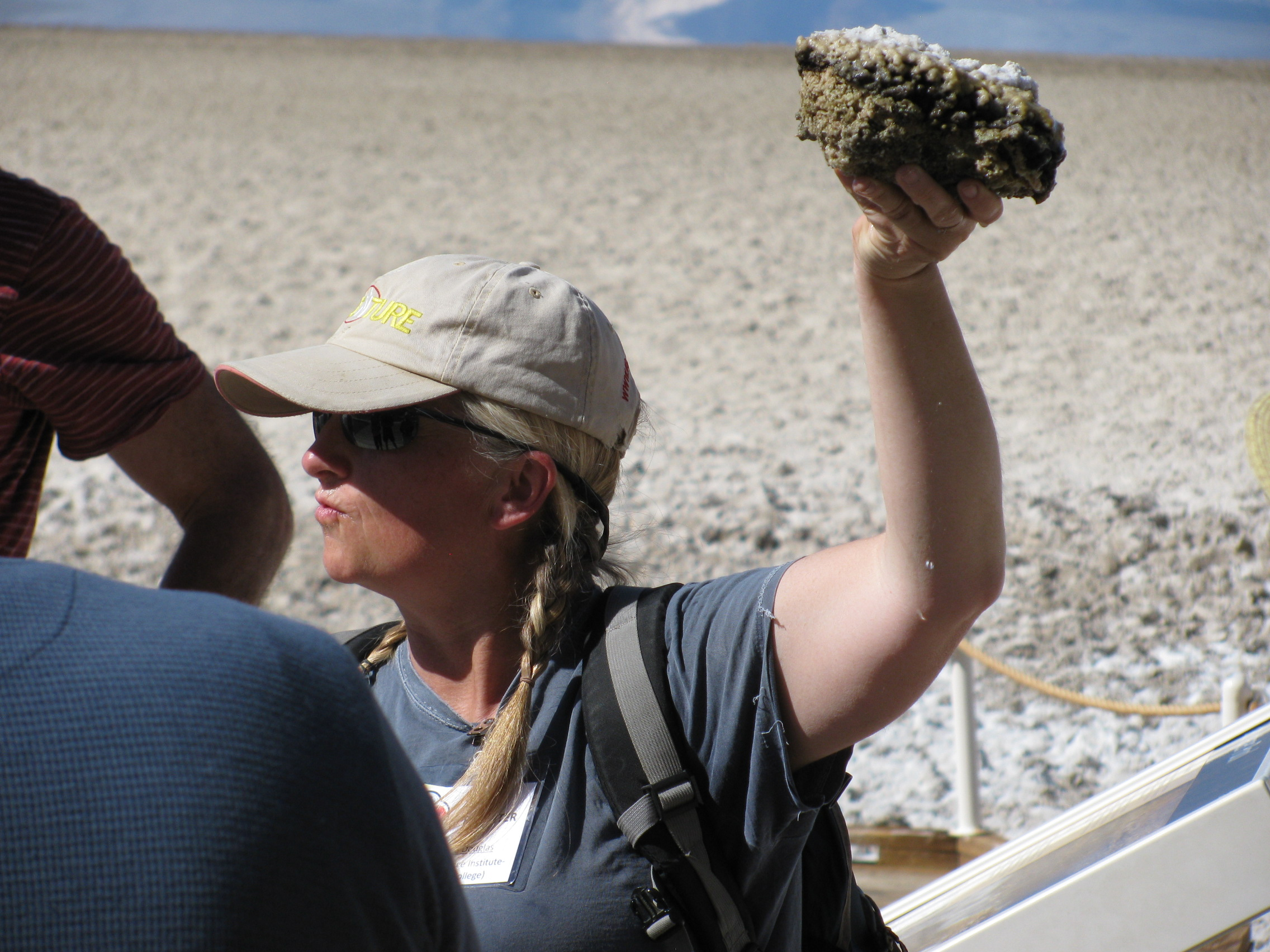 Dr. Susanne Douglas talks about microbial research in the Badwater Basin.