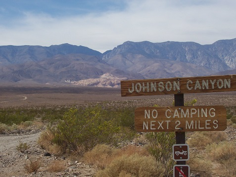 Junction of Johnson Canyon and West Side Road
