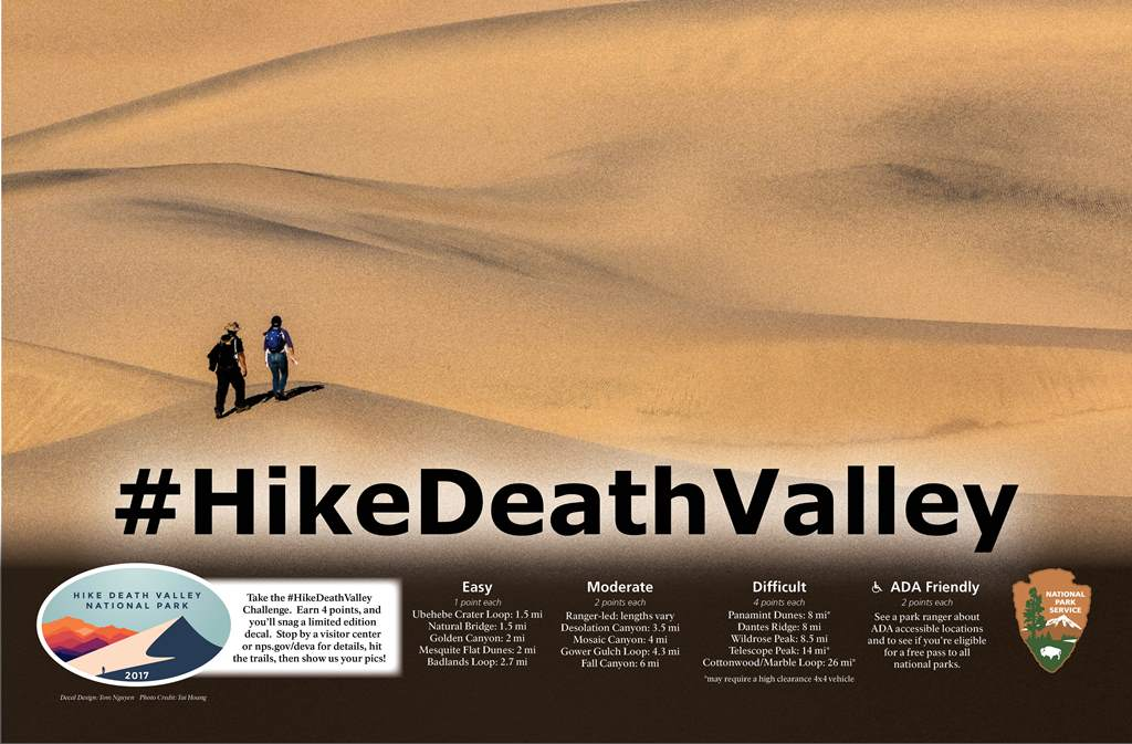 2017 Hike Death Valley Poster