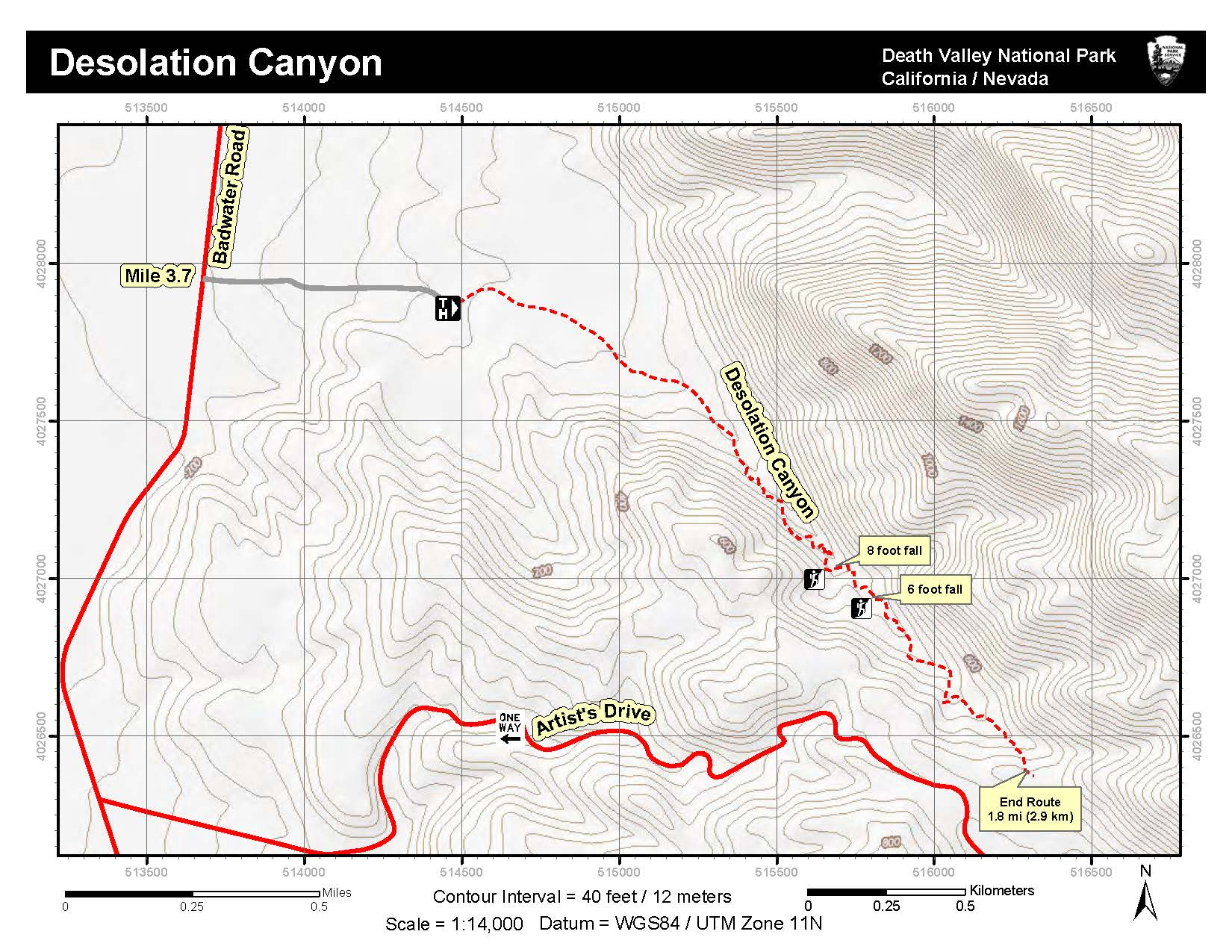 Topographic Map Of Desolation Canyon Route