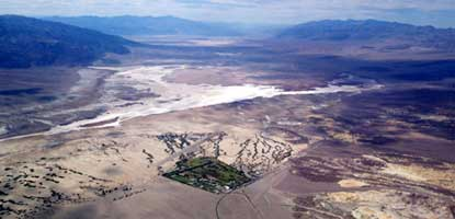 aerial view of Furnace Creek