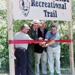 ribbon cutting at recreational trail