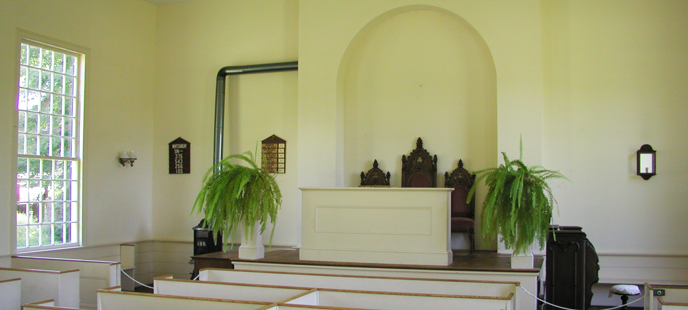 Interior of the Millbrook Village Church