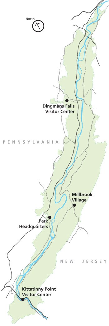 park map indicating visitor center locations