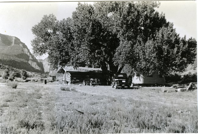 Wade and Curtis Cabin taken in 1941