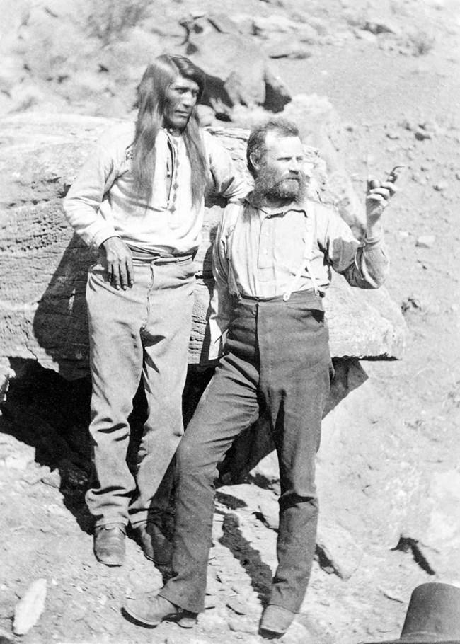 John Wesley Powell with Tau-gu