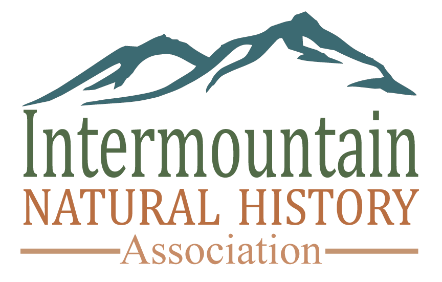 Logo containing drawing of a mountain and the words: Intermountain Natural History Association