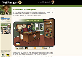 Click here to go to the NPS WebRangers page
