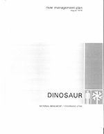 Dinosaur River Management Plan cover