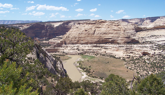 Dinosaur NM's canyon country & Yampa River from Harding Hole Overlook