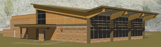 Artist's concept drawing of new visitor center