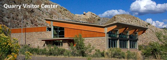 The new Quarry Visitor Center nears completion on September 5, 2011.