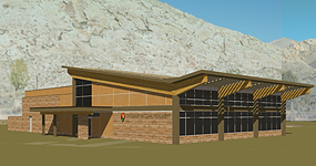 Architectural concept for the new Quarry Visitor Center