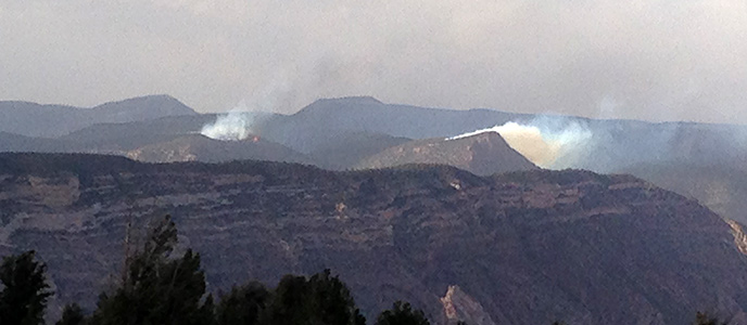 Wild and Hacking fires ignited on June 13 on Wild Mountain in Dinosaur National Monument.