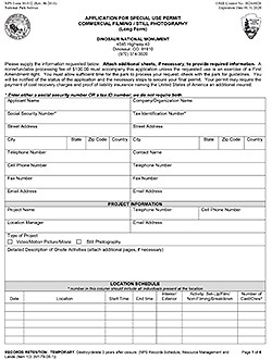 Photography Application Form