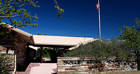 Entrance to Canyon Visitor Center at Dinosaur National Monument, located near Dinosaur, Colorado