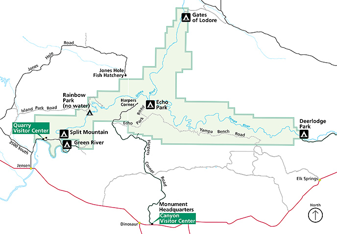 Dinosaur National Monument campground locations