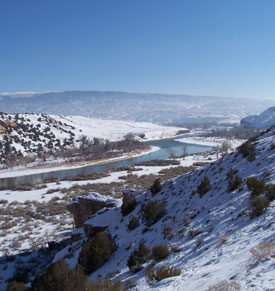 The Green River in winter