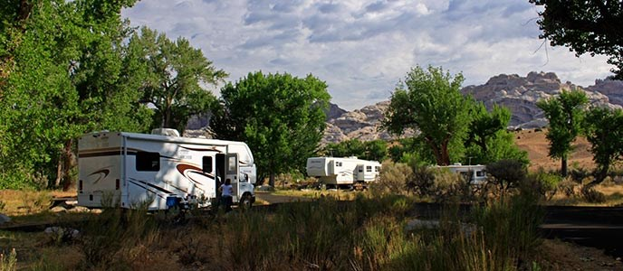 Green River Campground in summer 2012