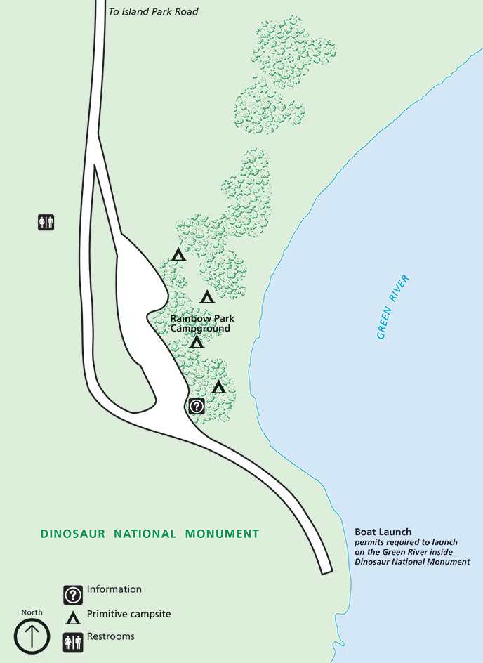 Rainbow Park Campground map
