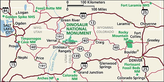 Map Of Utah And Colorado Directions   Dinosaur National Monument (U.S. National Park Service) Map Of Utah And Colorado