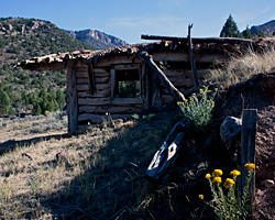 Baker Cabin along Johnson Draw