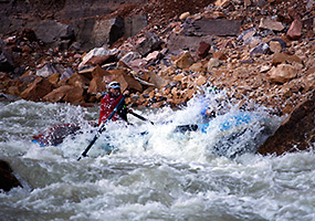 Warm Springs Rapid on the Yampa River, March 2013.