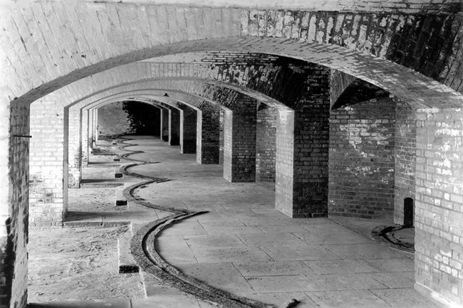 Fort Jefferson casemate interiors