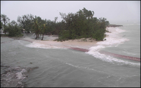 Campground at Dry Tortugas National Park during Hurricane Charley in 2004